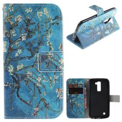 Apricot Tree PU Leather Wallet Case for LG K10 K420N K430DS K430DSF K430DSY