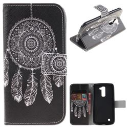 Black Wind Chimes PU Leather Wallet Case for LG K10 K420N K430DS K430DSF K430DSY