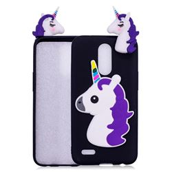 Unicorn Soft 3D Silicone Case for LG K10 2017 - Black