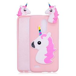 Unicorn Soft 3D Silicone Case for LG K10 2017 - Pink