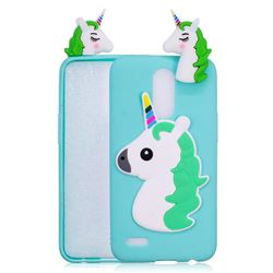 Unicorn Soft 3D Silicone Case for LG K10 2017 - Baby Blue