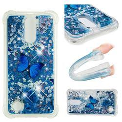 Flower Butterfly Dynamic Liquid Glitter Sand Quicksand Star TPU Case for LG K10 2017