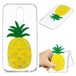 Yellow Pineapple Liquid Quicksand Soft 3D Cartoon Case for LG K10 2017