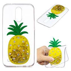Gold Pineapple Liquid Quicksand Soft 3D Cartoon Case for LG K10 2017