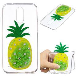 Green Pineapple Liquid Quicksand Soft 3D Cartoon Case for LG K10 2017