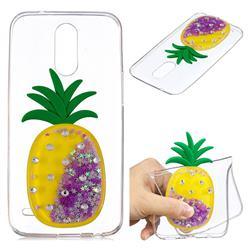 Purple Pineapple Liquid Quicksand Soft 3D Cartoon Case for LG K10 2017