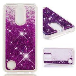 Dynamic Liquid Glitter Quicksand Sequins TPU Phone Case for LG K10 2017 - Purple