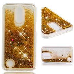 Dynamic Liquid Glitter Quicksand Sequins TPU Phone Case for LG K10 2017 - Golden