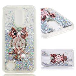 Seashell Owl Dynamic Liquid Glitter Quicksand Soft TPU Case for LG K10 2017
