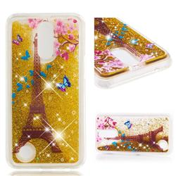 Golden Tower Dynamic Liquid Glitter Quicksand Soft TPU Case for LG K10 2017