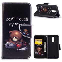 Chainsaw Bear Leather Wallet Case for LG K10 2017