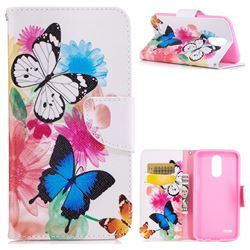 Vivid Flying Butterflies Leather Wallet Case for LG K10 2017