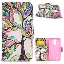 The Tree of Life Leather Wallet Case for LG K10 2017