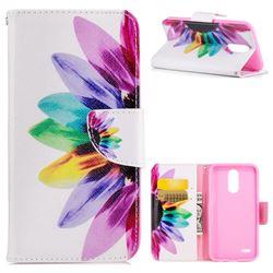 Seven-color Flowers Leather Wallet Case for LG K10 2017