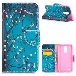 Blue Plum Leather Wallet Case for LG K10 2017