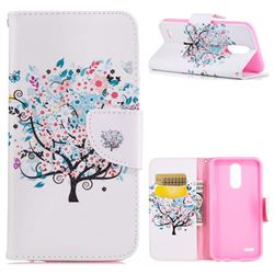 Colorful Tree Leather Wallet Case for LG K10 2017