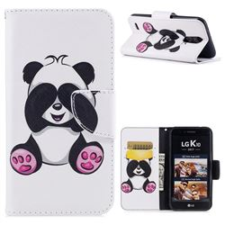 Lovely Panda Leather Wallet Case for LG K10 2017