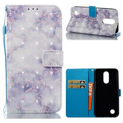 Green Gray Marble 3D Painted Leather Wallet Case for LG K10 2017
