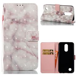 Beige Marble 3D Painted Leather Wallet Case for LG K10 2017