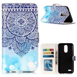 Totem Flower 3D Relief Oil PU Leather Wallet Case for LG K10 2017