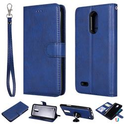 Retro Greek Detachable Magnetic PU Leather Wallet Phone Case for LG K10 2017 - Blue