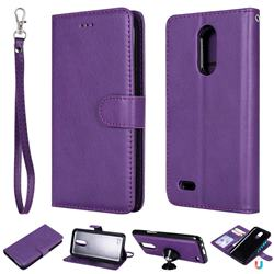 Retro Greek Detachable Magnetic PU Leather Wallet Phone Case for LG K10 2017 - Purple