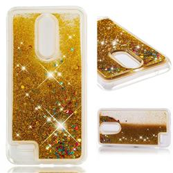 Dynamic Liquid Glitter Quicksand Sequins TPU Phone Case for LG K10 (2018) - Golden