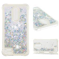 Dynamic Liquid Glitter Sand Quicksand Star TPU Case for LG K10 (2018) - Silver
