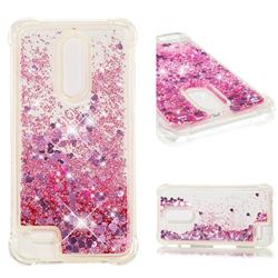 Dynamic Liquid Glitter Sand Quicksand Star TPU Case for LG K10 (2018) - Diamond Rose