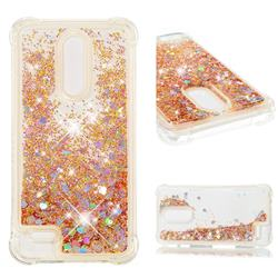 Dynamic Liquid Glitter Sand Quicksand Star TPU Case for LG K10 (2018) - Diamond Gold