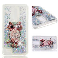 Seashell Owl Dynamic Liquid Glitter Quicksand Soft TPU Case for LG K10 (2018)