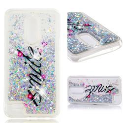 Smile Flower Dynamic Liquid Glitter Quicksand Soft TPU Case for LG K10 (2018)