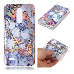 Gold Plating Marble Pattern Bright Color Laser Soft TPU Case for LG K10 (2018)