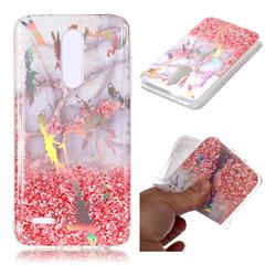 Powder Sandstone Marble Pattern Bright Color Laser Soft TPU Case for LG K10 (2018)