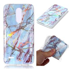 Light Blue Marble Pattern Bright Color Laser Soft TPU Case for LG K10 (2018)