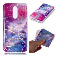 Dream Sky Marble Pattern Bright Color Laser Soft TPU Case for LG K10 (2018)
