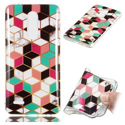 Three-dimensional Square Soft TPU Marble Pattern Phone Case for LG K10 (2018)