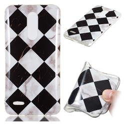 Black and White Matching Soft TPU Marble Pattern Phone Case for LG K10 (2018)