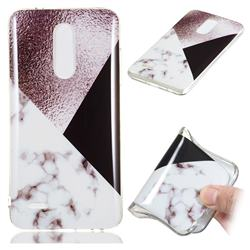 Black white Grey Soft TPU Marble Pattern Phone Case for LG K10 (2018)