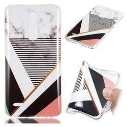 Pinstripe Soft TPU Marble Pattern Phone Case for LG K10 (2018)