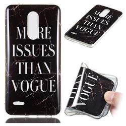 Stylish Black Soft TPU Marble Pattern Phone Case for LG K10 (2018)