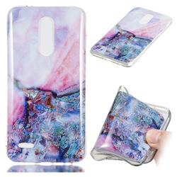 Purple Amber Soft TPU Marble Pattern Phone Case for LG K10 (2018)