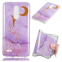 Elf Purple Soft TPU Marble Pattern Phone Case for LG K10 (2018)