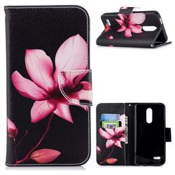 Lotus Flower Leather Wallet Case for LG K10 (2018)