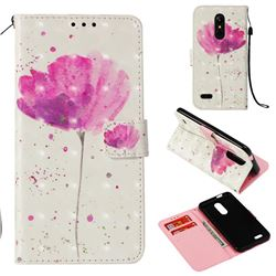 Watercolor 3D Painted Leather Wallet Case for LG K10 (2018)