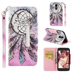Angel Monternet Big Metal Buckle PU Leather Wallet Phone Case for LG K10 (2018)