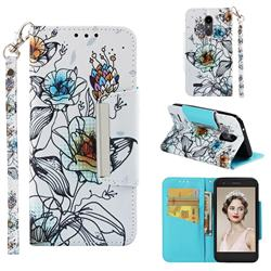 Fotus Flower Big Metal Buckle PU Leather Wallet Phone Case for LG K10 (2018)