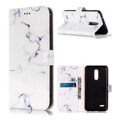 Soft White Marble PU Leather Wallet Case for LG K10 (2018)