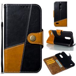 Retro Magnetic Stitching Wallet Flip Cover for LG K10 (2018) - Black