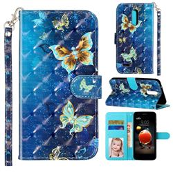 Rankine Butterfly 3D Leather Phone Holster Wallet Case for LG K10 (2018)
